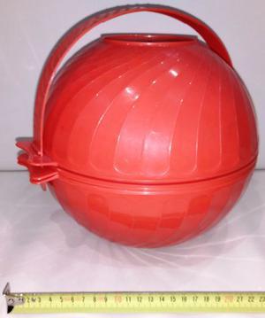 Set da PicNic per 6 persone PVC rosso +bicchieri +piatti +