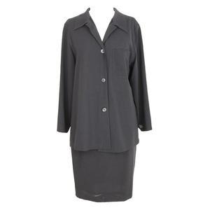 max mara vintage wool gray suit skirt
