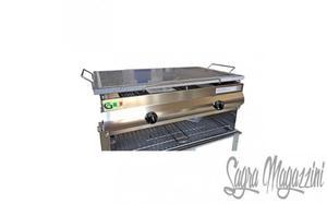 Barbecue griglia acciaio 2 fuochi c/ pietra lavica Euro 360