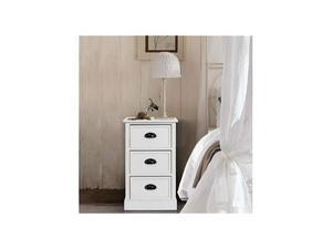 Legno Bianco Frassinato : Kit comodino in legno bianco cm 626 x 40 x 493 posot class
