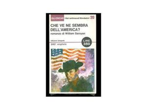 """Libro """"Che ve ne sembra dell'America"""" di William Saroyan"""
