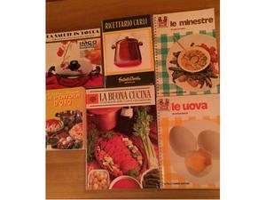 Lotto sei libri di ricette cucina e buona tavola, come da