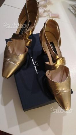 Scarpe in pelle dorata MISS ROSSI N40