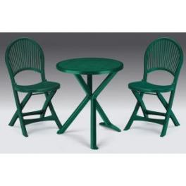 Set Brio - tavolo tondo diam.65cm e due sedie in ecoresina
