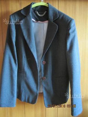 Tailleur grigio giacca e gonna tg 46