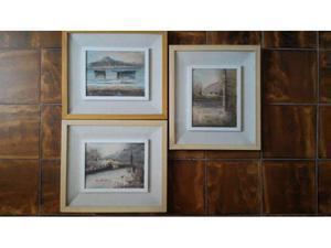 Trio Quadri d'autore, pittura ad olio su tela