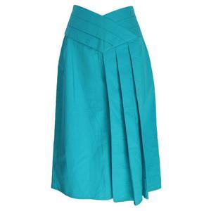 alberta ferretti vintage cotton blue skirt