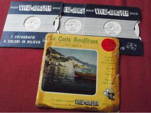 3 dischetti view master La costa amalfitana