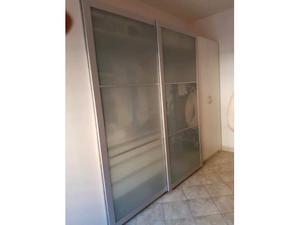 Ante scorrevoli ikea pax lyngdal vetro alluminio posot class - Ikea armadio ante scorrevoli ...