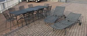 Tavolo da giardino emu legno e ferro posot class - Emu arredo giardino ...