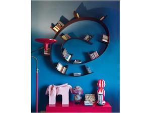 Libreria flessibile Bookworm style Kartell PVC colore nero