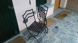Sedie in ferro battuto pieghevoli