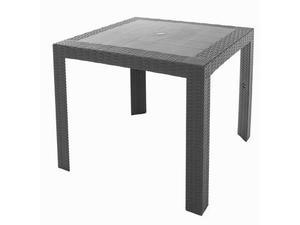 Tavolo Da Giardino In Plastica Quadrato 80x80x72cm Adami