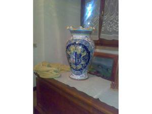 VASO di Deruta e 3 miniature Brocca-catino-piedistallo