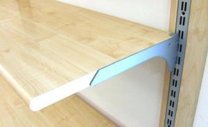 2 mensole ikea complete di staffe posot class for Ikea mensole acciaio