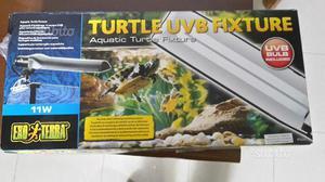 Turtle uvb fixture lampada e plafoniera uvb posot class for Lampada raggi uvb per tartarughe
