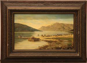 Antico dipinto olio su tela