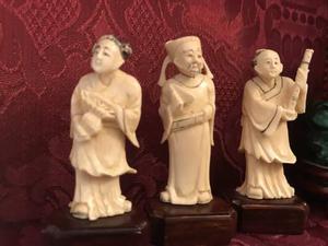Antichità Cina miniature di Okimono in av