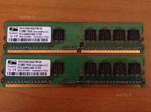 Kit Ram 2x 512mb (1gb) ProMOS pcu--D0