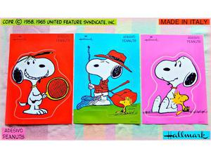 SNOOPY Peanuts VINTAGE  MAXI ADESIVI Stickers collezione