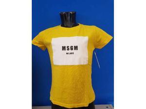 T shirt bambino uf msgm gialla