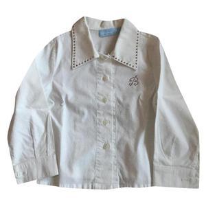 camicia bianca con swarosky