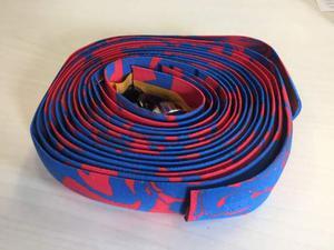 Nastro manubrio bicicletta - rosso blu maculato - nuovo