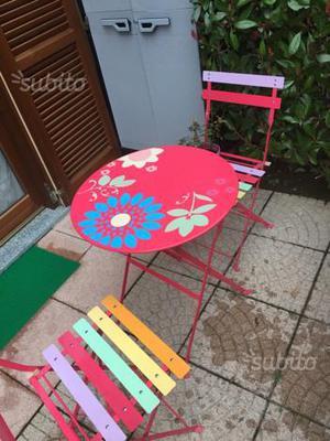 Tavolo con 2 sedie per esterno