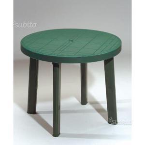 Tavolo con 4 sedie in plastica