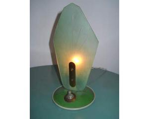 Lampada ottone e vetro anni '50 vintage modernariato