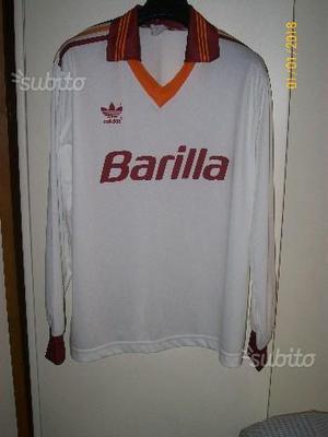Maglia AS Roma Barilla anni 90 manica lunga Adidas