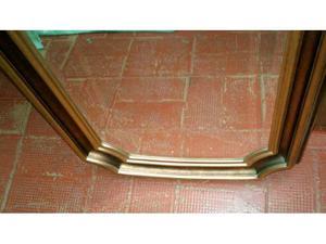 Specchio da parete in legno color oro