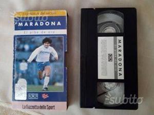 VHS originale Maradona Gazzetta dello sport