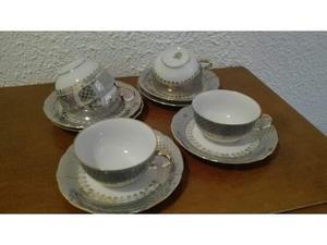 6 tazze te' porcellana e oro