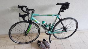 Bici da corsa bianchi carbonio/alluminio