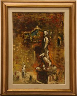 Emanuele Cappello pittore olio su tela palazzo Vecchio