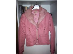 Giubbotto rosa con vera pelliccia Lapin No Smoke