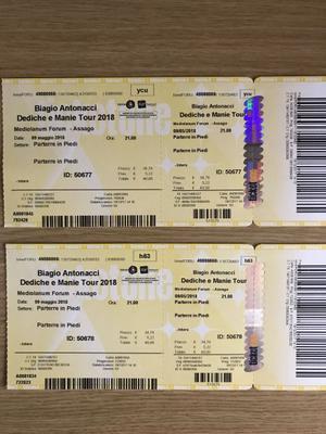 Biglietti concerto Biagio Antonacci