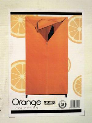 Armadio color arancio ORDINETT 76 x 50 x 145 cm