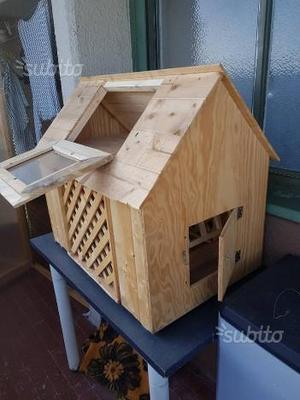 Casa in legno per roditori (conigli cavie)