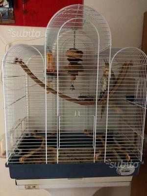 Gabbia per pappagalli con accessori