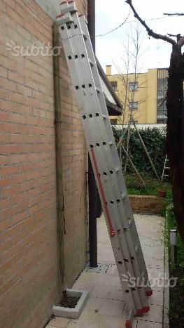 Scala allungabile in alluminio 9 metri