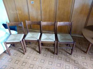 4 sedie legno