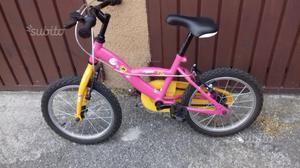 Bicicletta per bambina usata poco come nuova