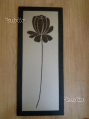 Coppia di quadri con cornice in legno wenghe