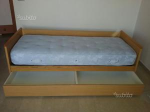 Letto singolo contenitore ikea odda con rete posot class - Ikea letto singolo con contenitore ...