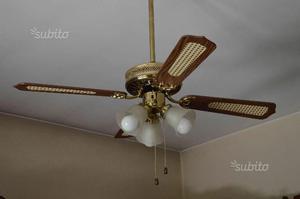 Ventilatore a soffitto con lampadario