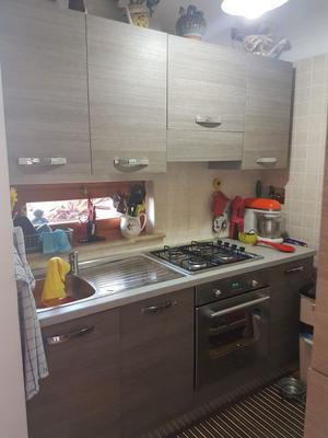 Cucina lineare 330m in rovere grigio | Posot Class