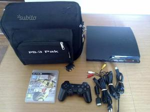 Playstation 3 slim 500 giga + borsa pak + fifa 17