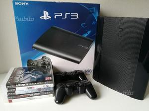Playstation 3 super slim 500GB +2 joystick+giochi